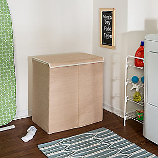 Honey-Can-Do Large Dual Laundry Hamper with Lid, , rollover
