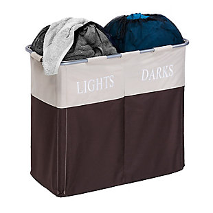 Honey-Can-Do Dual Compartment Laundry Hamper, , rollover