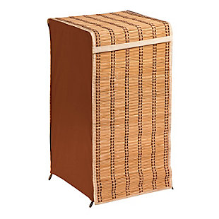 Honey-Can-Do Tall Bamboo Laundry Hamper with Lid, , large