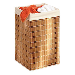 Honey-Can-Do Square Wicker Hamper, , large