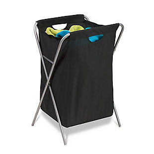 Honey-Can-Do Folding X-Frame Hamper, , rollover