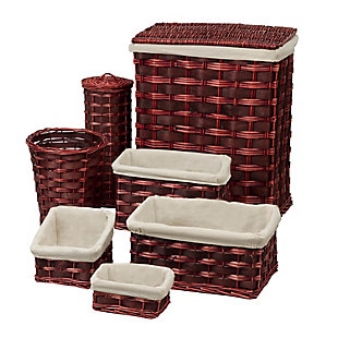 Honey-Can-Do 7 Piece Hamper and Storage Set, , large