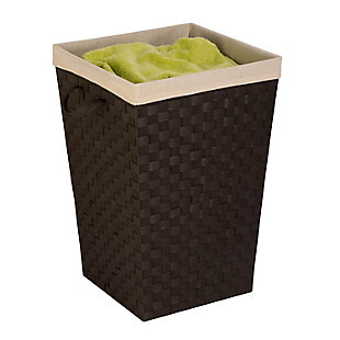 Honey-Can-Do Woven Strap Hamper with Liner, , rollover