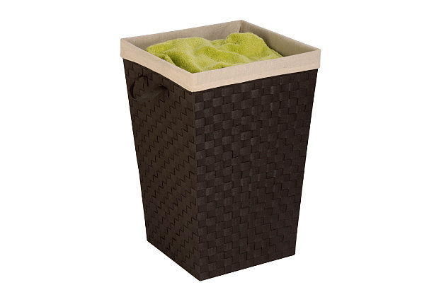 Honey-Can-Do Woven Strap Hamper with Liner, , large