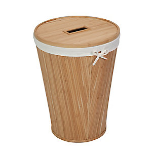 Honey-Can-Do Round Bamboo Hamper, , large
