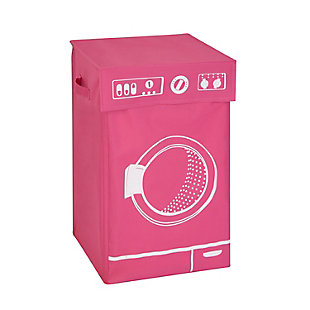 Honey-Can-Do Washer Graphic Hamper with Lid, , rollover