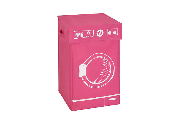 Honey-Can-Do Washer Graphic Hamper with Lid, , large