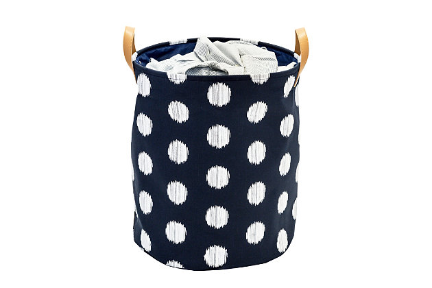 Honey-Can-Do Canvas Scribble Hamper, , large