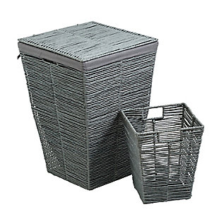 Honey-Can-Do Rolled Paper Rope Hamper, , large