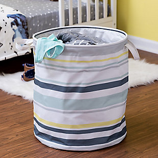 Honey-Can-Do Multi-Stripe Hamper, Multi Stripe, rollover