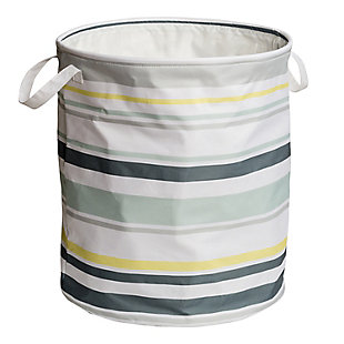 Honey-Can-Do Multi-Stripe Hamper, Multi Stripe, large