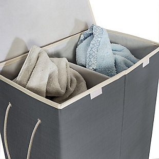 Honey-Can-Do 2-Compartment Collapsible Sorting Hamper, , large