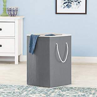 Honey-Can-Do Collapsible Resin Clothes Hamper, , rollover