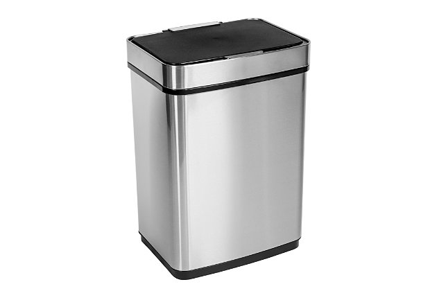 Honey Can Do 50l Stainless Steel Trash Can With Motion Sensor And Soft Close Ashley Furniture Homestore