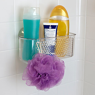 Home Accents Large Cubic Patterned Plastic Shower Caddy with Suction Cups, , rollover