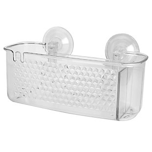 Home Accents Large Cubic Patterned Plastic Shower Caddy with Suction Cups, , large