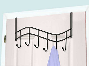 Home Accents Wave 6 Hook Over-the-Door Organizing Rack, , rollover