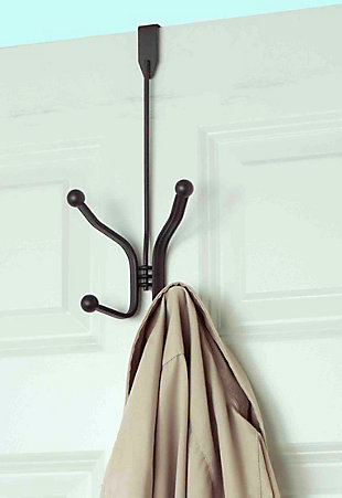 Home Accents Curved Over-the-Door Double Hanging Hook, , rollover