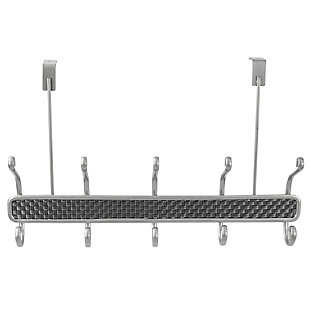 Home Accents Basket Weave 5 Hook Hanging Rack, , large