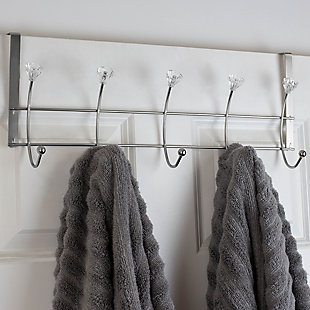 Home Accents 5 Hook Hanging Rack with Crystal Knobs, , rollover