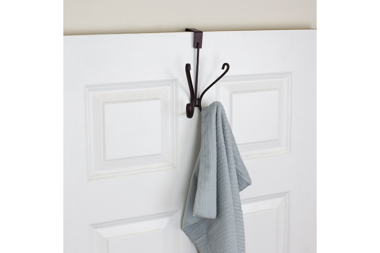 Brushed Gunmetal HOOK Clothes Robe towel Shower Bathroom bedroom accessories