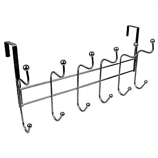 Home Accents Nico 6 Hook Over-the-Door Hanging Rack, , large