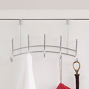 Home Accents Arch Chrome 5 Hook Over-the-Door Hanging Rack, , rollover
