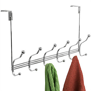 Home Accents 6 Hook Over-the-Door Tri-Bar Hanging Rack, , large