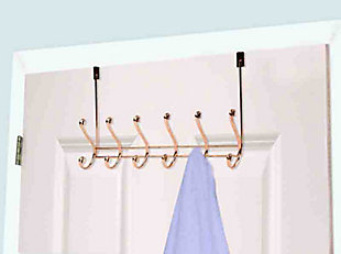Home Accents 6 Hook Over-the-Door Hanging Rack, , large