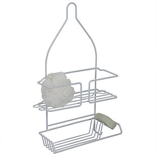 Home Accents Vinyl Coated Steel Shower Caddy, , large