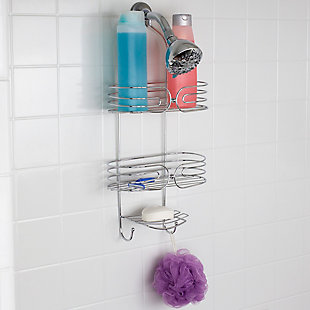 Home Accents Chrome Plated Steel Shower Caddy, , rollover