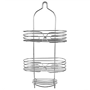 Home Accents Chrome Plated Steel Shower Caddy, , large