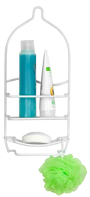 Home Accents Vinyl Coated Shower Caddy, , large