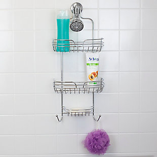 Home Accents Sleek Chrome Plated Steel Shower Caddy, , rollover