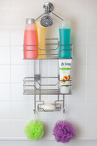 Home Accents 2 Tier Adjustable Shelving Hanging Shower Caddy, , rollover