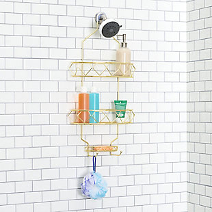 Home Accents Prism 2 Tier Shower Caddy with Built-in Hooks, , rollover