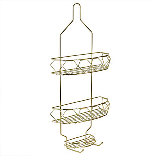 Home Accents Prism 2 Tier Shower Caddy with Built-in Hooks, , large