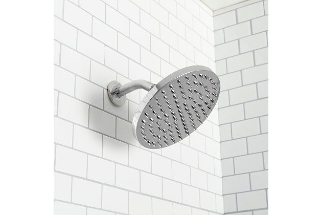 Home Accents  Chrome Round Rainfall Shower Head, , large