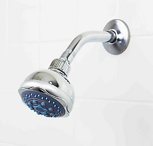 Sunbeam Sunbeam 5 Function Chrome Plated Steel Fixed Shower Head, , large