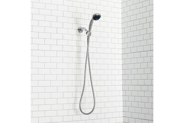 Home Accents  8 Function Chrome Plated Steel Shower Head Massager, , large