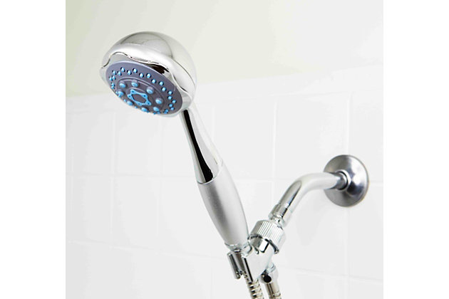 Home Accents Deluxe Handheld 5 Function Shower Massager with 5 FT. Hose, , large