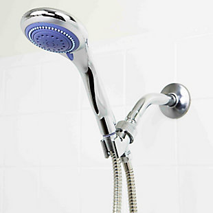 Sunbeam Sunbeam 3 Function Chrome Plated Steel Shower Head Massager, , large