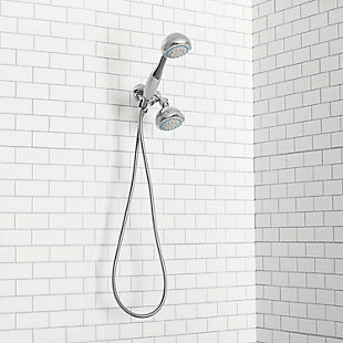 Home Accents Deluxe 5 Function Twin Shower Massager, , large