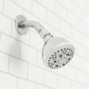 Home Accents Refresh High Pressure Full Coverage 5 Function Fixed Shower Head, , large