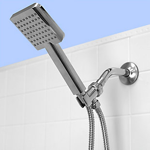Home Accents Ultimate ShowerBliss Square Handheld Single Function Shower Massager, , rollover