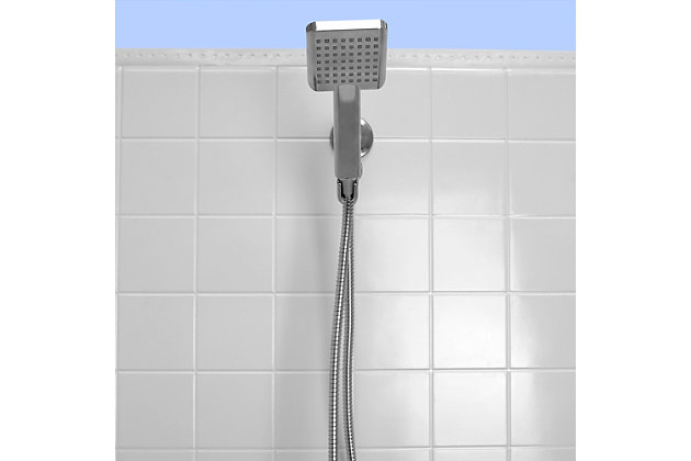 Home Accents Ultimate ShowerBliss Square Handheld Single Function Shower Massager, , large