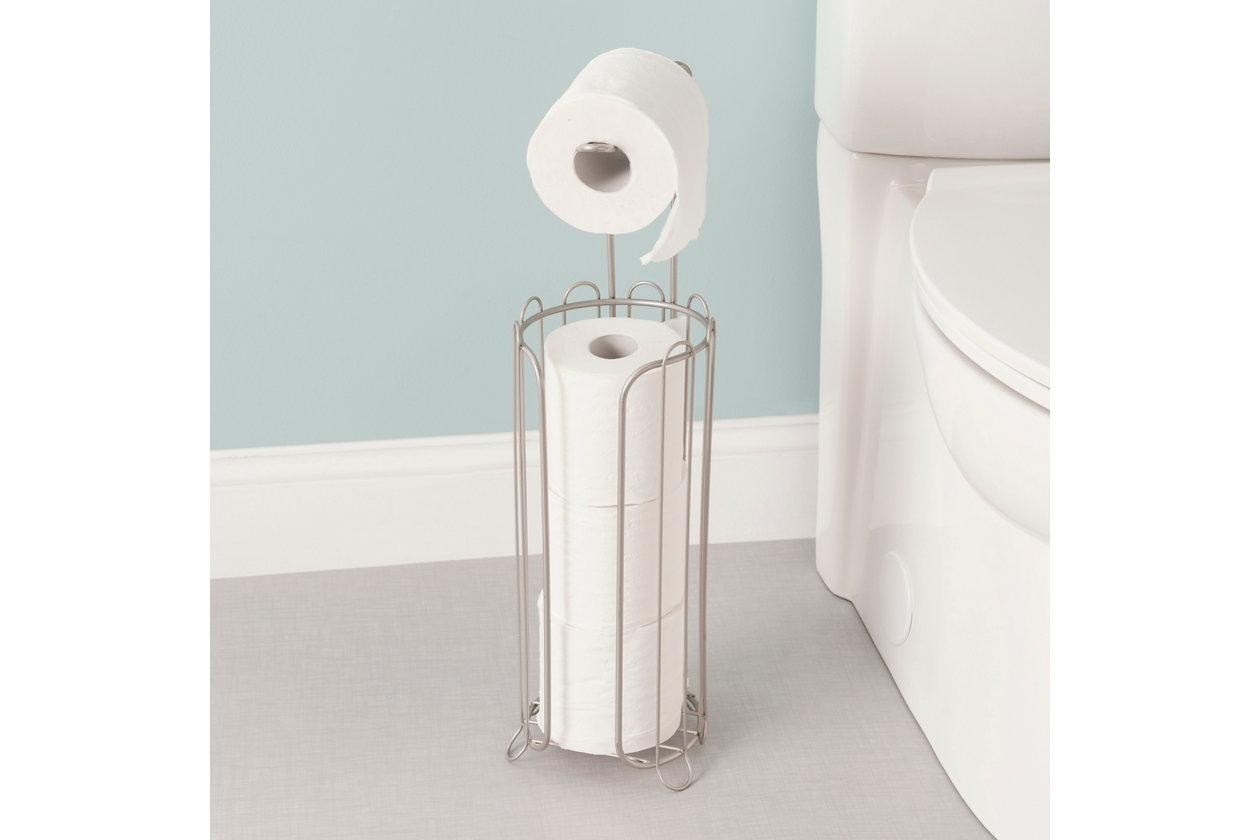 Bathroom Free Standing Bedroom /& Living Room Home Basics Sturdy Plastic Vanity Tray White Decorative Makeup Holder