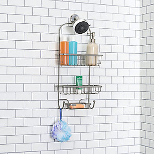 Home Accents Heavy Weight Satin Nickel Shower Caddy, , rollover