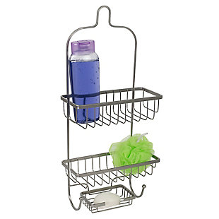 Home Accents Heavy Weight Satin Nickel Shower Caddy, , large