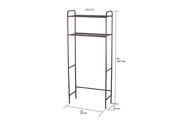 Home Accents 2 Shelf Bathroom Space Saver, , large
